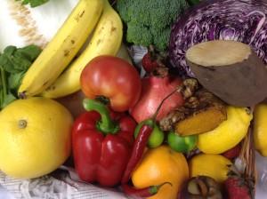 キューサイの食べるスムージーに含まれている野菜の一部。とても贅沢です^^