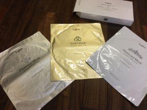 ビーグレンのプラチナムマスク、ゴールドマスク、ダイアモンドマスク(非売品)。商品化はあるのかな?! 極上の使用感です。