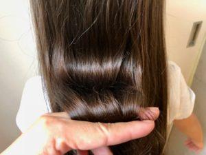 健康で艶のある髪(子供)