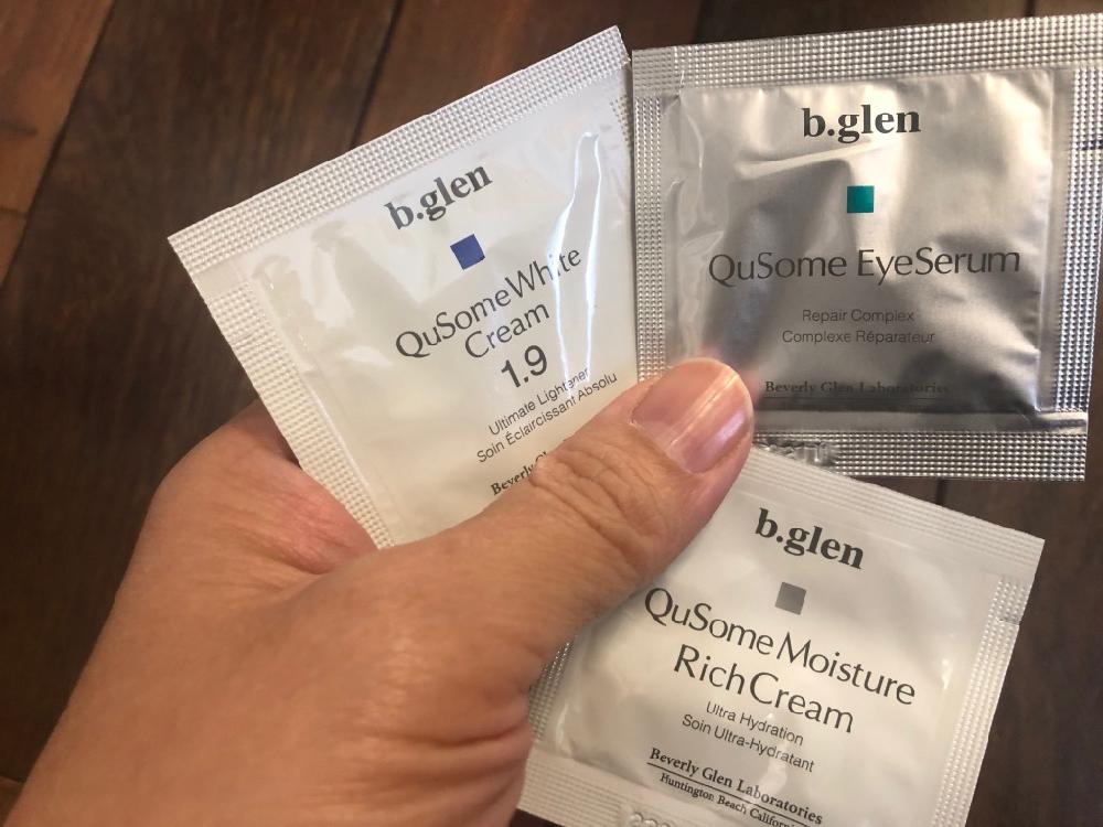 b.glen(ビーグレン)の定期便には、その定期便で購入していない商品のサンプルが同梱されてきます。