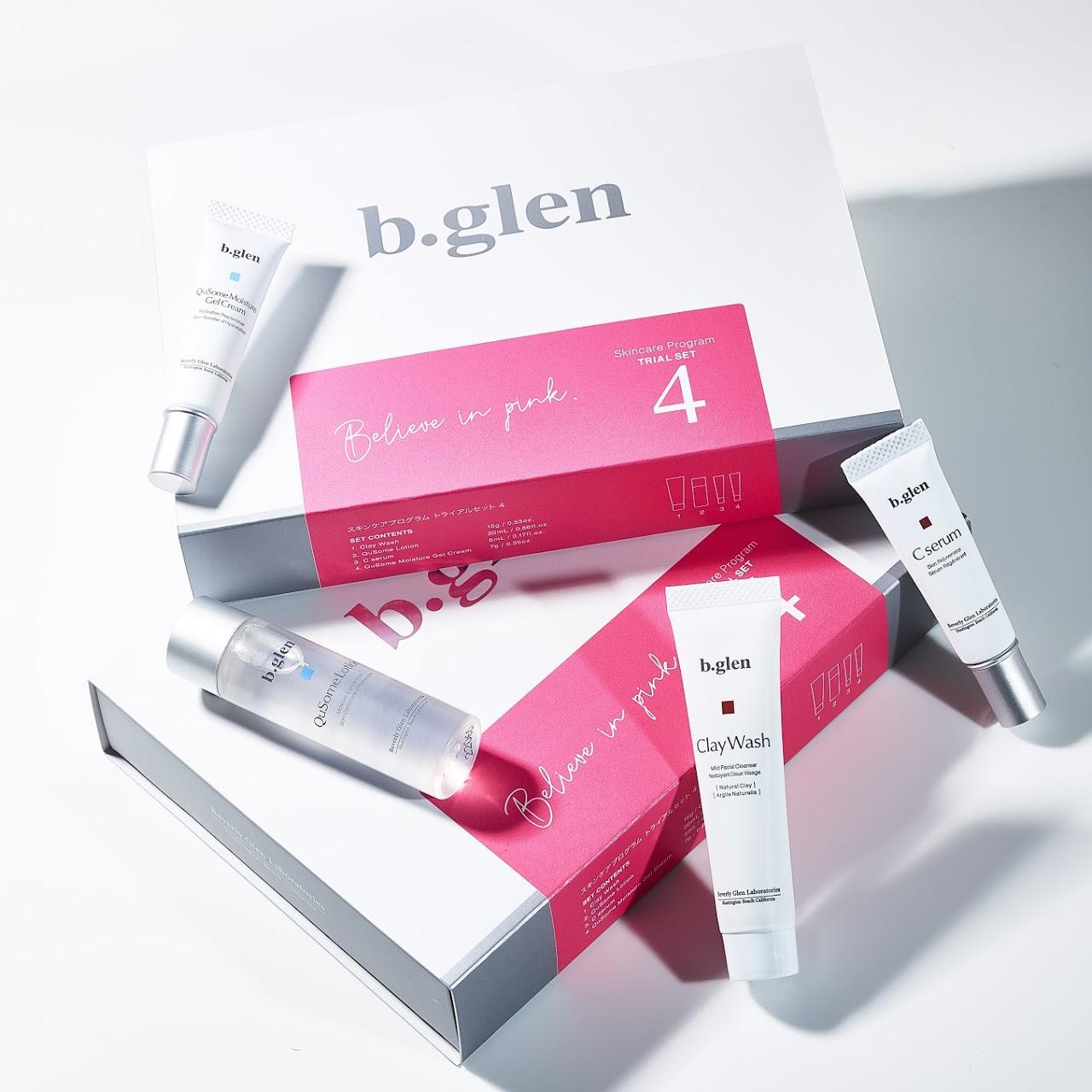 b.glen(ビーグレン)の毛穴ケアトライアルセット(ピンク色)