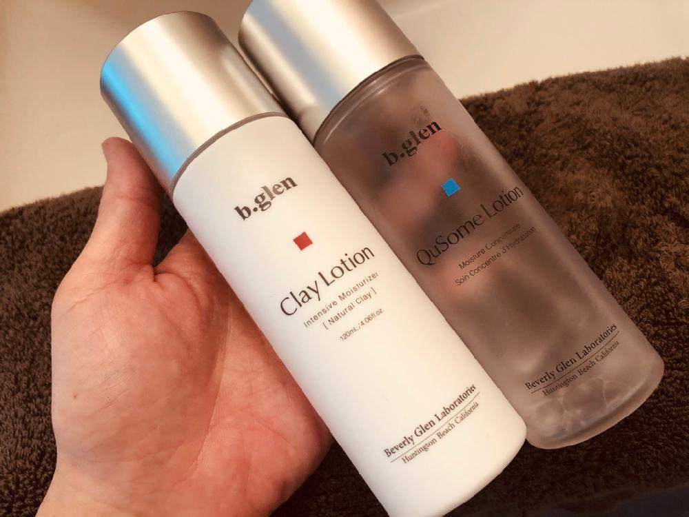 ar肌-アラハダ_b.glen(ビーグレン)の化粧水、QuSomeローションとクレイローションの違い